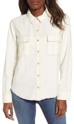 BP Tonal Stitch Linen Blend Shirt