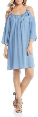 Karen Kane Cold-Shoulder Chambray Dress