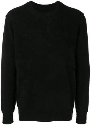Attachment brushed sweater