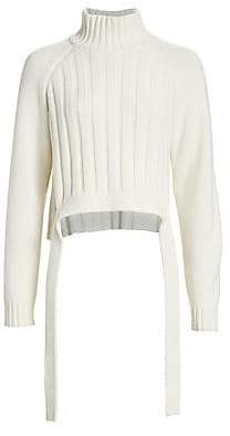 Proenza Schouler (プロエンザ スクーラー) - Proenza Schouler Women's Cropped Wool & Cashmere Turtleneck Sweater