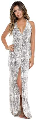 Luli Fama Bombo flosy Long Dress, S