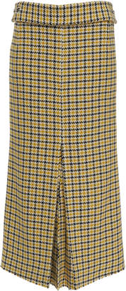 Victoria Beckham Plaid Silk-Wool Box Pleat Skirt Size: 6