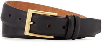 W.KLEINBERG W. Kleinberg Basic Leather Belt with Interchangeable Buckles, Black