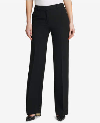 DKNY Fixed-Waist Wide-Leg Pants, Created for Macy's