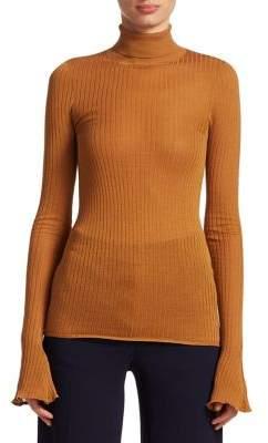 Victoria Beckham Rib Knit Turtleneck