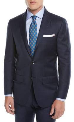 Kiton Men's Two-Piece Three-Button Wool Plaid Suit
