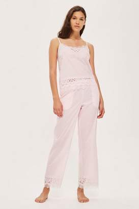Topshop Premium Cotton and Lace Trousers