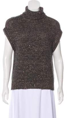 Brunello Cucinelli Sequined Cashmere Top