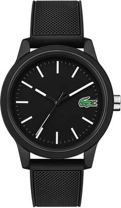 Lacoste Men's 12.12 Watch with Black Silicone Strap