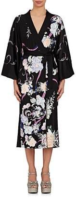 Marc Jacobs Women's Floral Embellished Cotton Kimono Wrap Dress $3,200 thestylecure.com