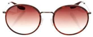 Barton Perreira Round Gradient Sunglasses