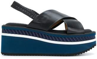 Clergerie sling-back wedge sandals