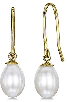 Theia 9ct Gold White Freshwater Pearl Stud Earrings