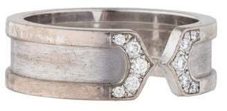 Cartier Logo Double C Diamond Ring