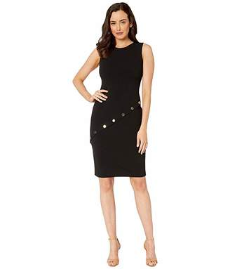Calvin Klein Hardware Detail Sheath Dress