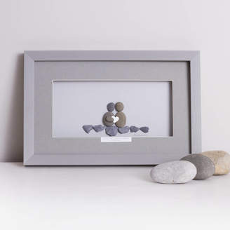 Daisy Maison 'Side By Side Is Where We Belong' Framed Pebble Artwork