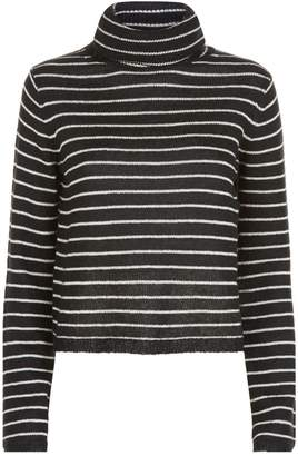 AllSaints Marty Striped Roll Neck Sweater