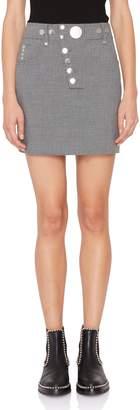 Alexander Wang High-Waisted Multi-Snap Mini Skirt