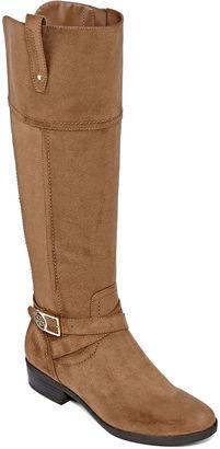 LIZ CLAIBORNE Liz Claiborne Palermo Riding Boots - Wide Width, Wide Calf $120 thestylecure.com
