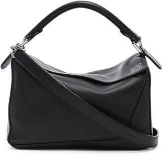 Loewe Puzzle Small Bag in Black   FWRD