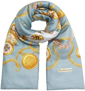 Burberry Archive Scarf Print Silk Puffer Scarf
