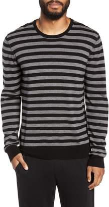 ATM Anthony Thomas Melillo Slim Fit Stripe Merino Wool Sweater