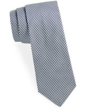Saks Fifth Avenue Houndstooth Silk Tie