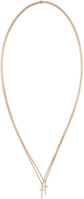 Dsquared2 Gold Double Cross Necklace $130 thestylecure.com