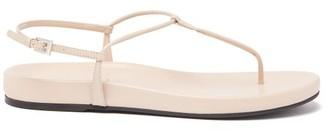 Prada Slim Strap Leather Sandal - Womens - Nude