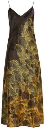 ADRIANA IGLESIAS Jadi floral-print stretch-silk slip dress
