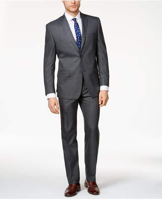 Andrew Marc Men's Classic-Fit Medium Gray Windowpane Suit
