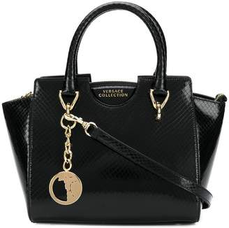 Versace textured leather tote bag