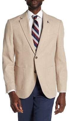 Tailorbyrd Bekele Linen Notch Collar Long Sleeve Sport Coat