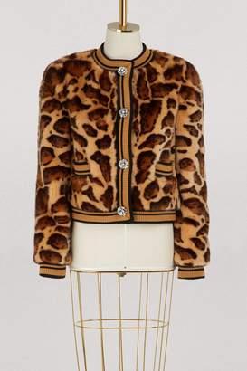 Dolce & Gabbana Faux fur cardigan