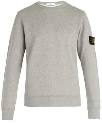 Stone Island Logo Patch Cotton Jersey Sweatshirt - Mens - Grey