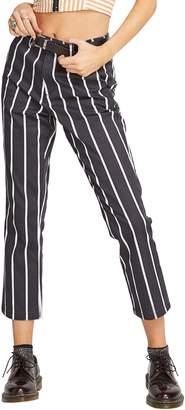 Volcom Frochickie Stripe High Waist Crop Pants