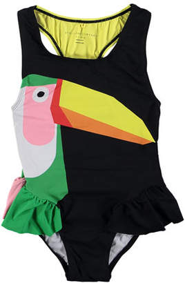 Stella McCartney Toucan One-Piece Swimsuit, Size 4-14