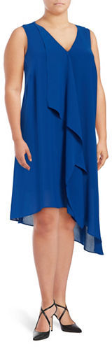 Adrianna PapellAdrianna Papell Plus Asymmetric Draped-Front Dress