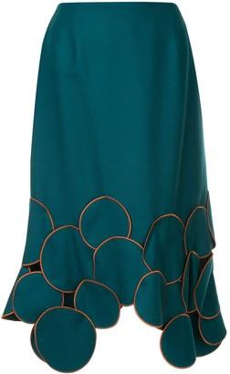 Kolor patchwork trim midi skirt