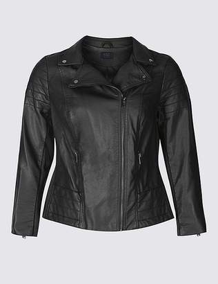 Marks and Spencer CURVE Faux Leather Biker Jacket