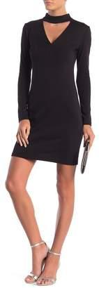 Cynthia Steffe CeCe by Isabella Mock Neck Long Sleeve Dress