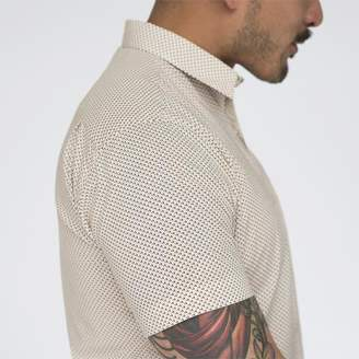 Blade + Blue Cream Mini Print Short Sleeve Shirt - FRANKIE