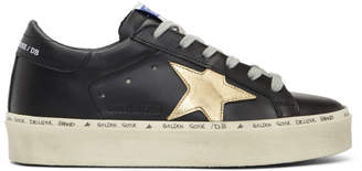 Golden Goose Black Hi Star Platform Sneakers