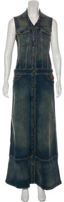 Just Cavalli Denim Maxi Dress