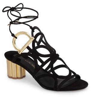Women's Salvatore Ferragamo Strappy Block Heel Sandal