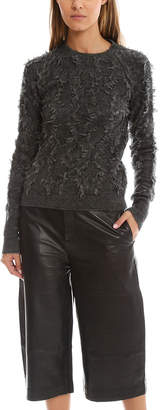 3.1 Phillip Lim Pullover in Destroyed Diamond Fringe Jacquard