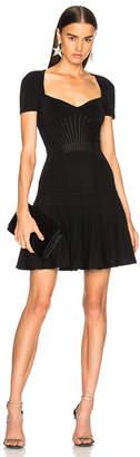 Alexander McQueen Metallic Armor Knit Mini Dress
