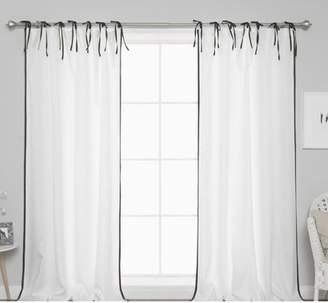 Rosdorf Park Quinnes Border Tie Top Curtain Panels