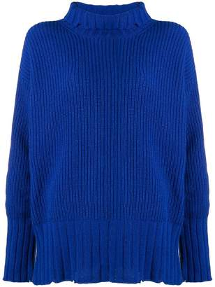 MSGM distressed turtleneck jumper
