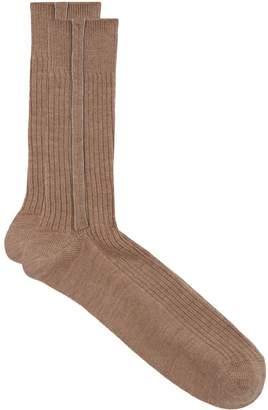 Brunello Cucinelli Ribbed Chain Socks